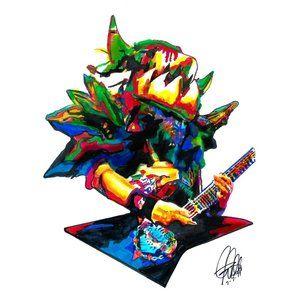 Balsac Jaws of Death GWAR Rock Music Print Poster